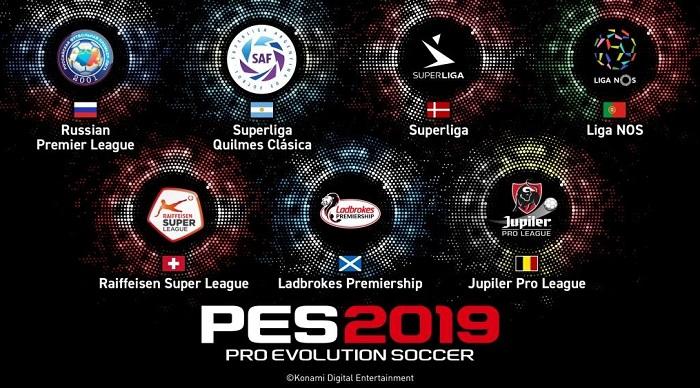 PES 2019 «отобрала» российскую премьер-лигу в FIFA 19 и получила ещё шесть новых лиг