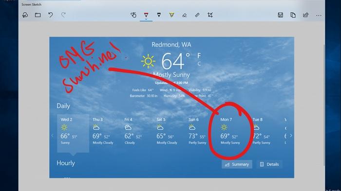 Windows 10 получит встроенное приложение для скриншотов