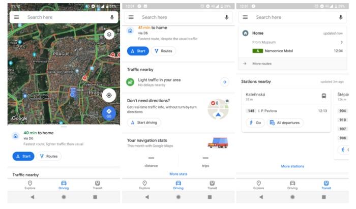Google Maps для Android получило редизайн