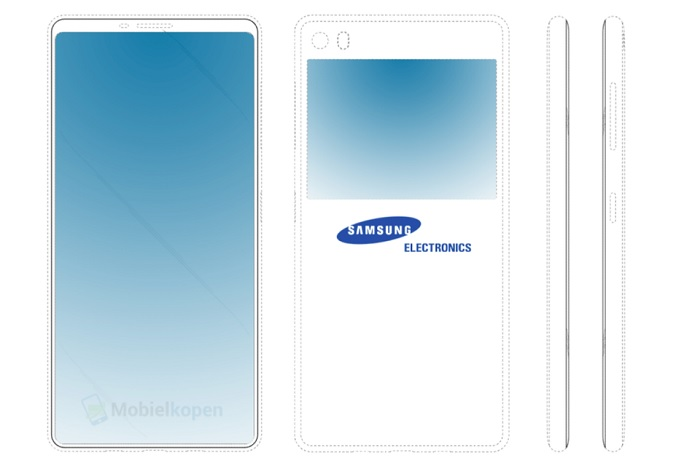 В Сети появилось изображение концепции Samsung Galaxy с двумя дисплеями