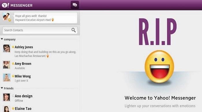 Yahoo Messenger стал ещё одним классическим мессенджером, которого отправляют на покой