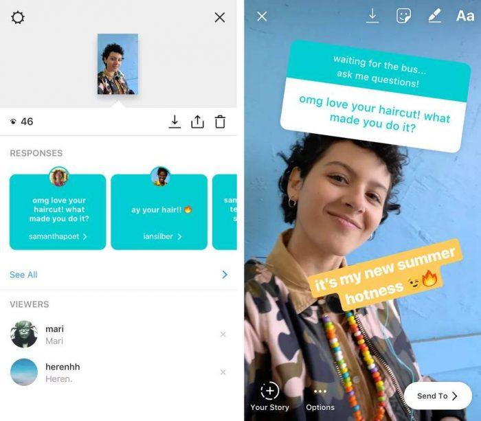 В Instagram Stories добавили стикеры с вопросами