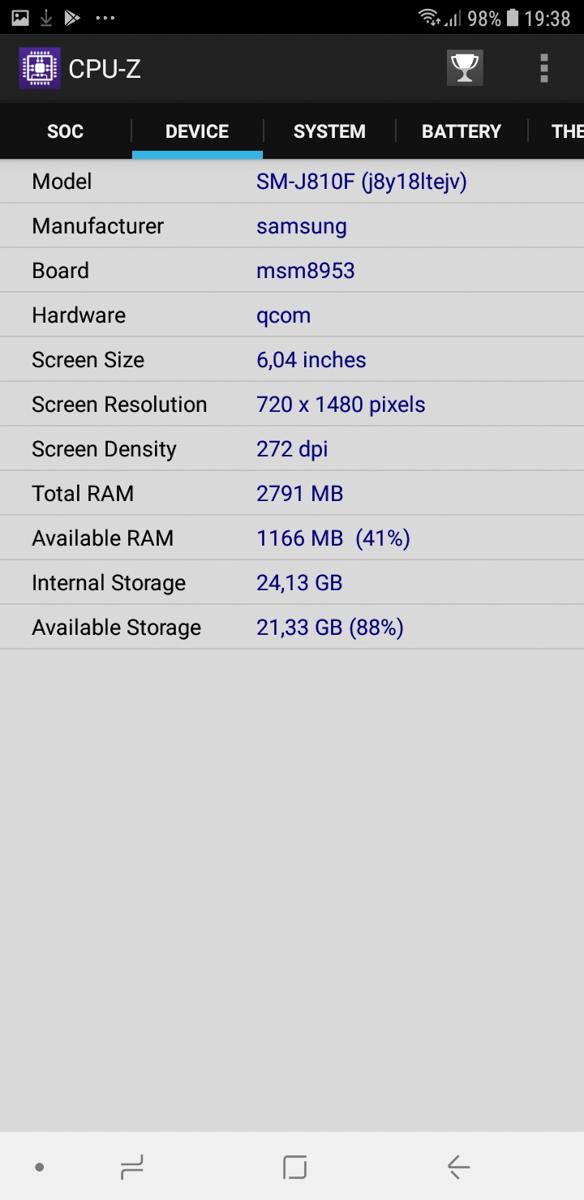 Samsung Galaxy J8 21