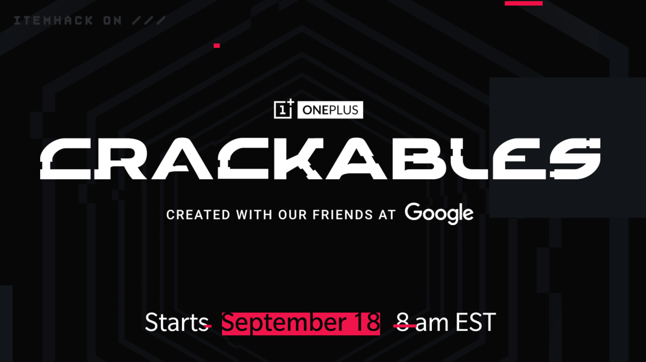 OnePlus Google Crackables game