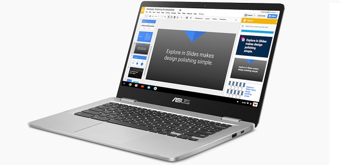 ASUS представила 14-дюймовый Chromebook C423