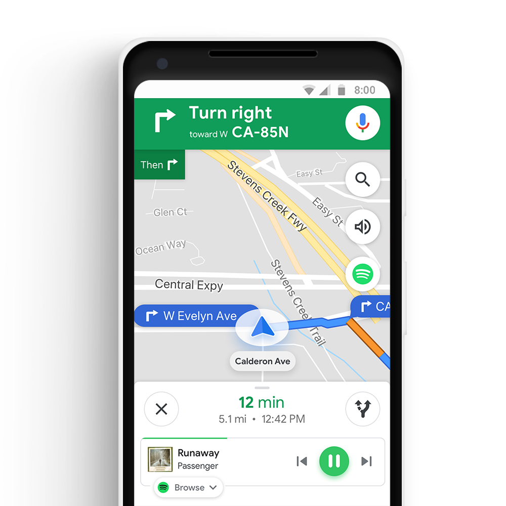 Google Maps Spotify integration