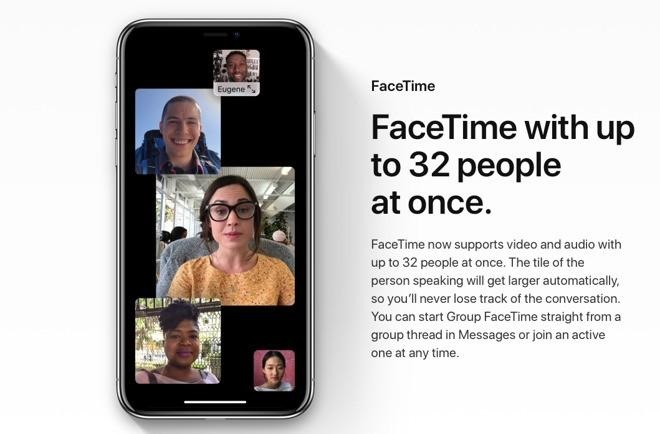 Group facetime video
