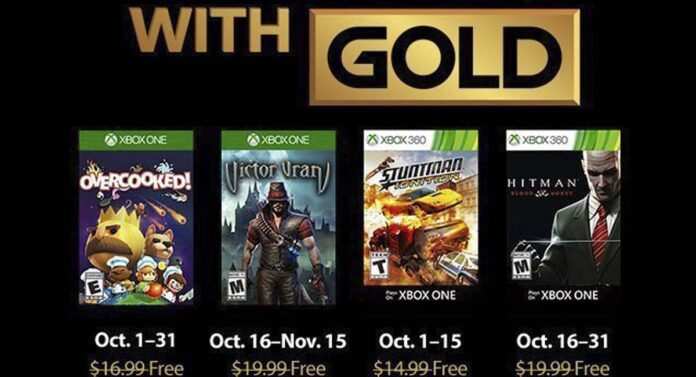 October Xbox Live Gold