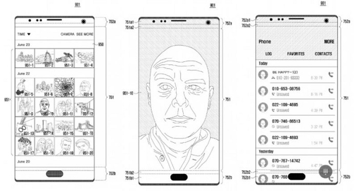 Samsung behind-the-display selfie camera