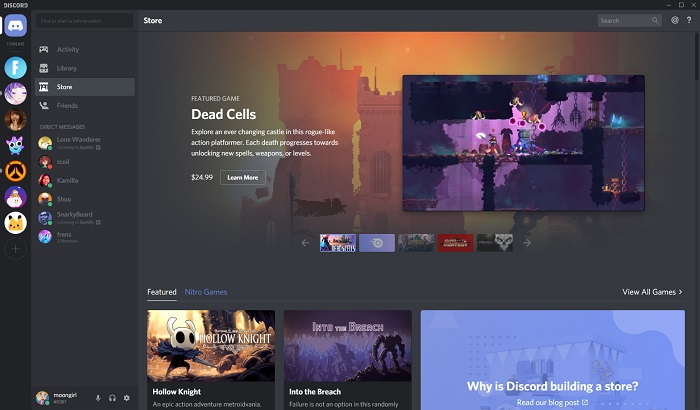 Черговий конкурент Steam: Discord запускає власний магазин ігор