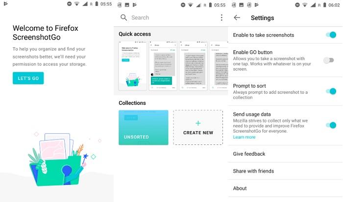 Mozilla выпускает Firefox ScreenshotGo для смартфонов