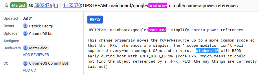 Google Pixel Slate Nocturne Windows 10