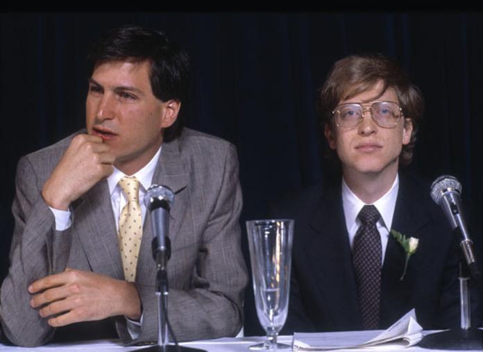 Бил Гейтс и Стив Джобс