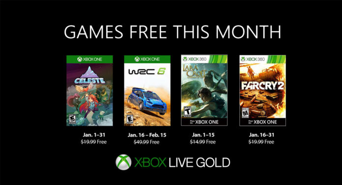 Xbox Live Gold January 2019