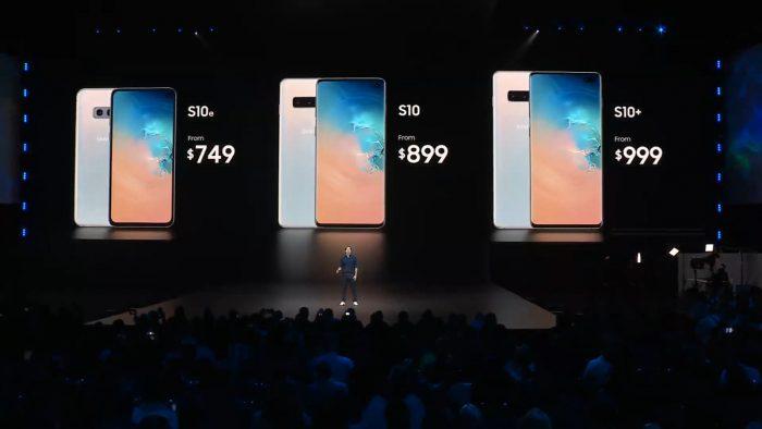 Samsung Galaxy S10 цены
