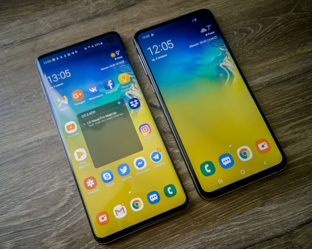 Samsung Galaxy S10 vs S10e