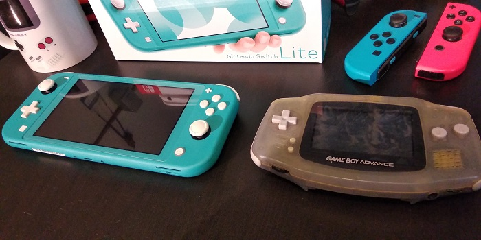 Nintendo Switch Lite compared to Game Boy Advance