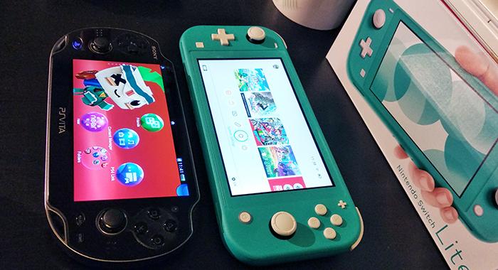 Nintendo Switch Lite compared to PS Vita