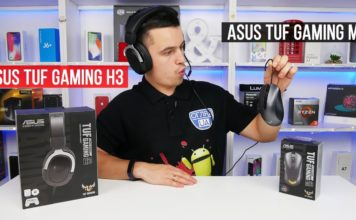 Ігрова гарнитура ASUS TUF Gaming H3 та мишка TUF Gaming M3