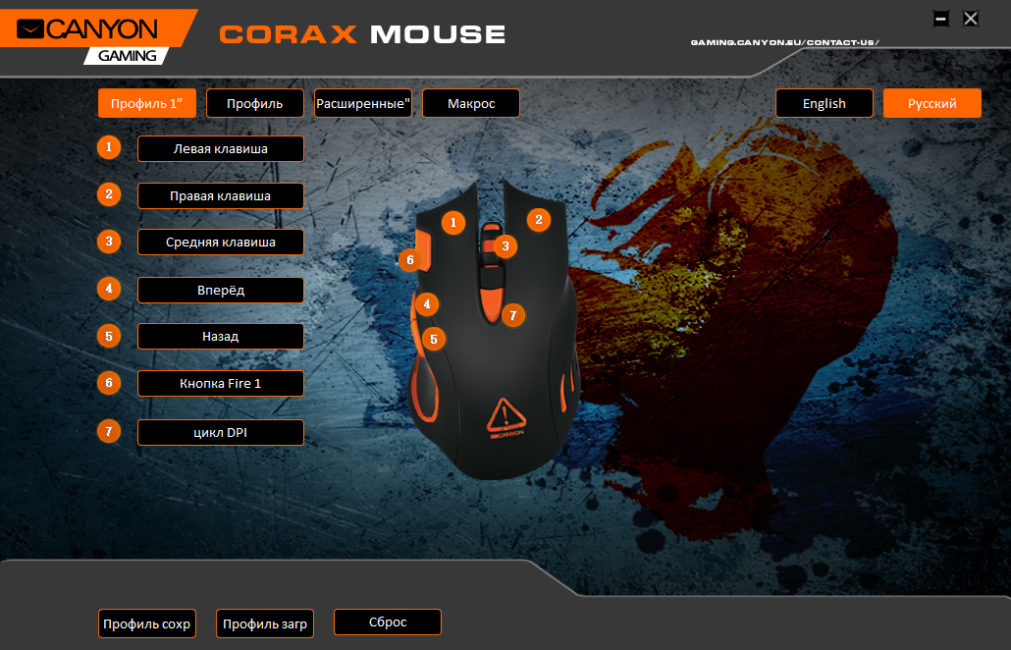 Canyon Corax Mouse