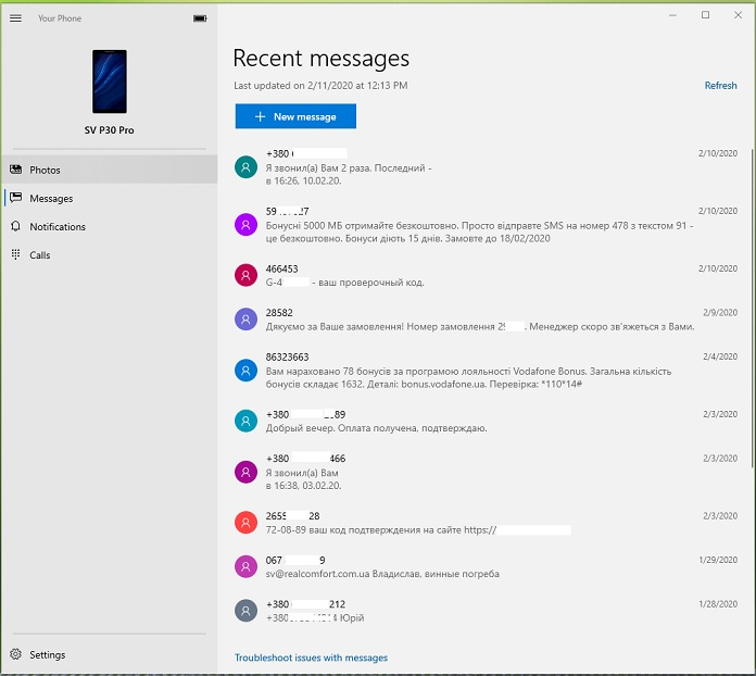 Your Phone review – Calls, SMS, photos and notifications from Android on Windows 10