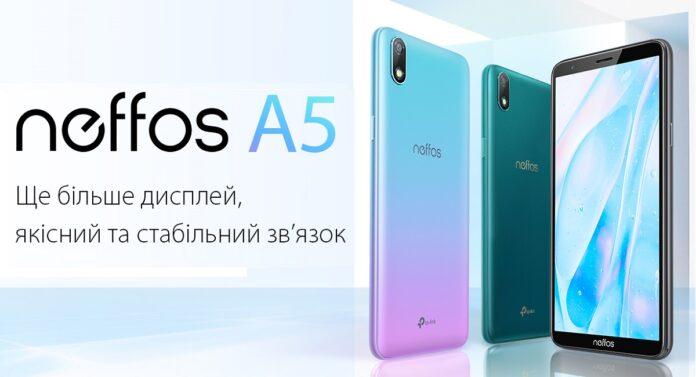 Компанія TP-Link починає продавати в Україні новий смартфон Neffos А5