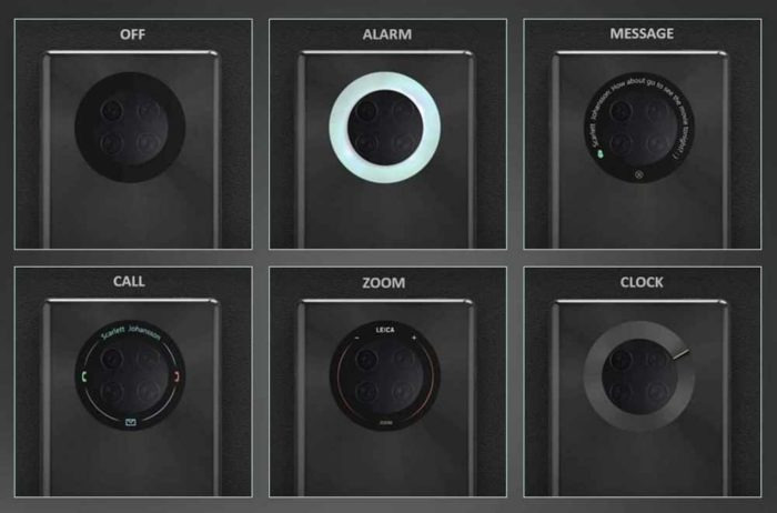 Huawei MATE 40 может получить сенсорный дисплей вокруг задней камеры