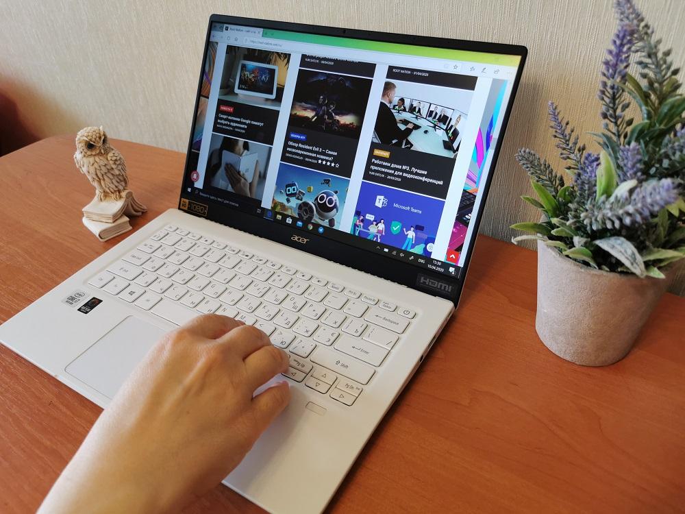 Обзор Acer Swift 5 (SF514-54T) – элегантный, легкий и мощный ультрабук