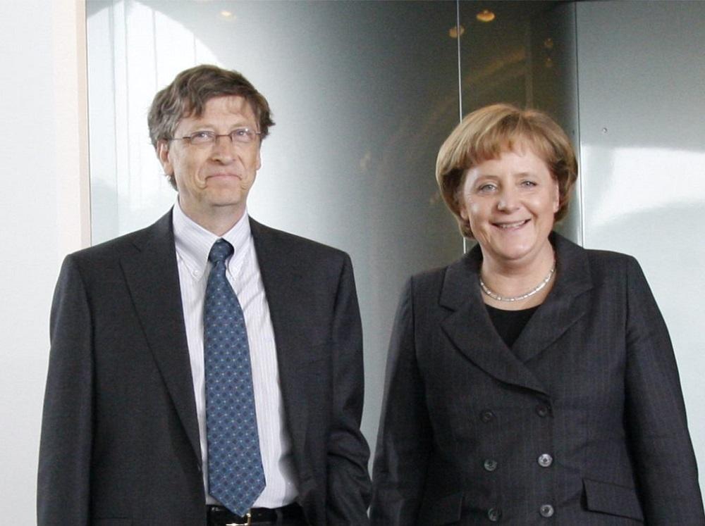 Билл Гейтс и Ангела Меркель