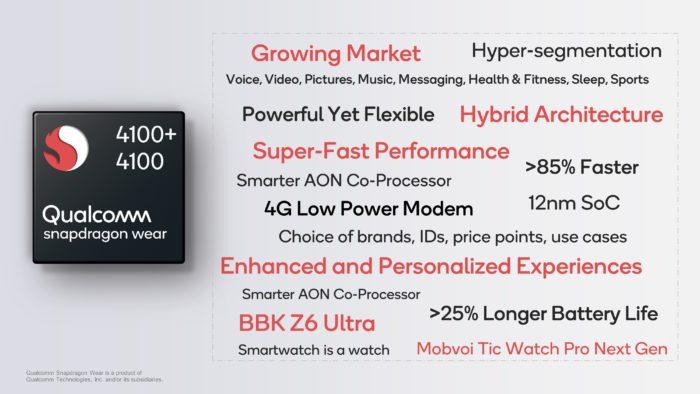 Qualcomm Snapdragon Wear 4100+ Summary