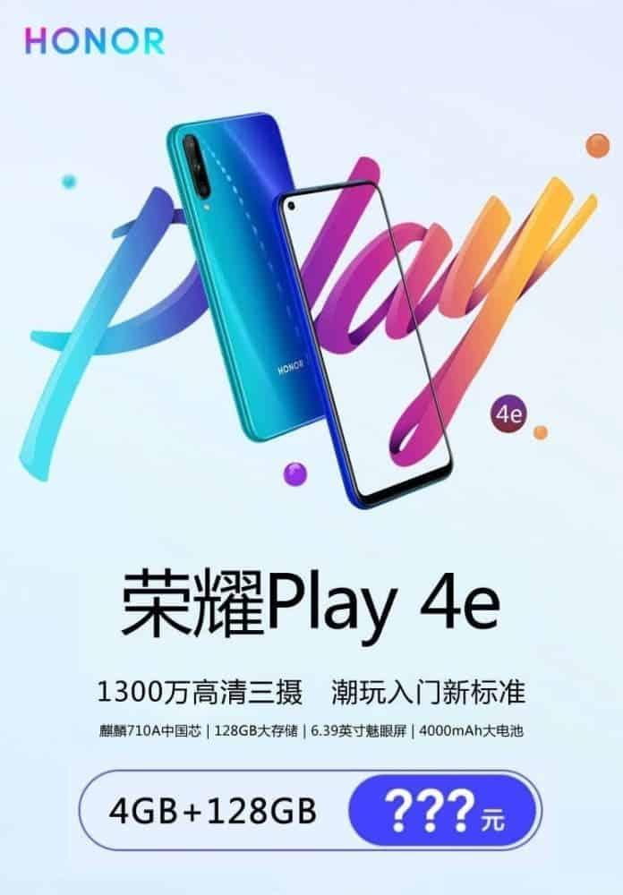 зображення і характеристики смартфону Honor Play 4e