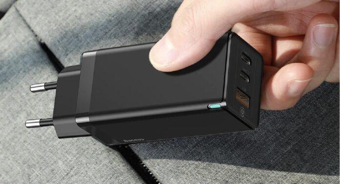 Зарядное устройство Baseus GaN мощностью 65 Вт