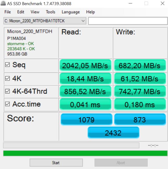 ASUS ZenBook 13 (UX325) AS SSD