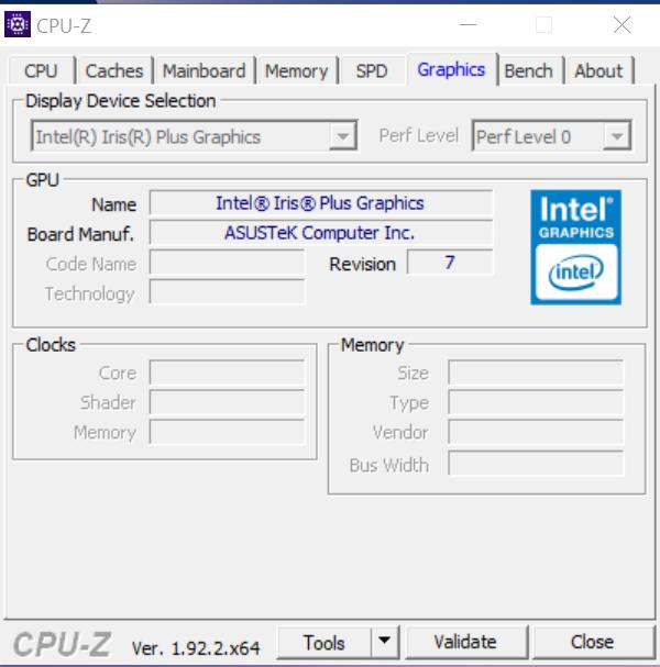 ASUS ZenBook 13 (UX325) CPU-Z
