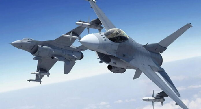 F-16 dogfight