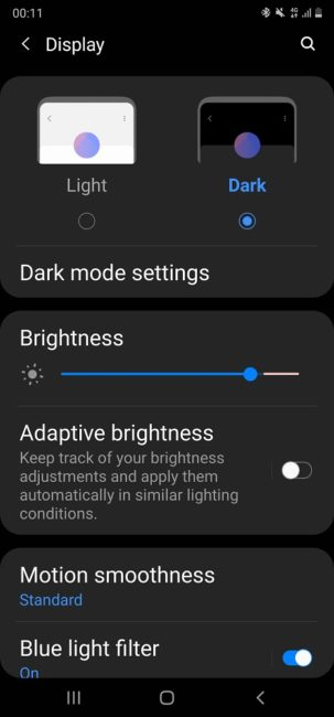 Samsung Galaxy Note20 Ultra Display Setting