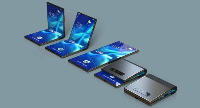 HP foldable smartphone