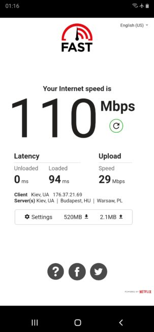 TP-Link Archer T6E Speed Test