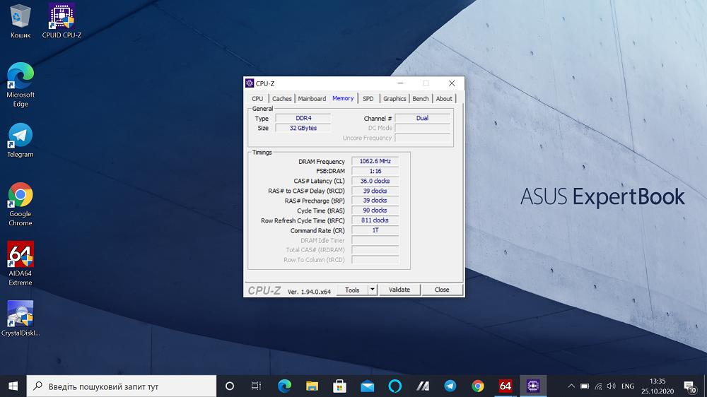 ASUS ExpertBook (B9) CPU-Z