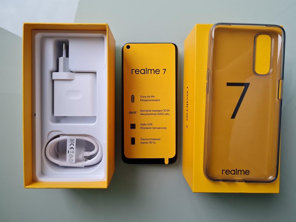 Комплектация Realme 7