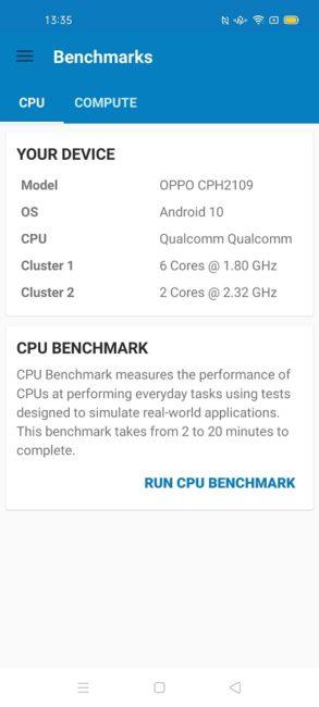 OPPO Reno4 Pro Geekbench
