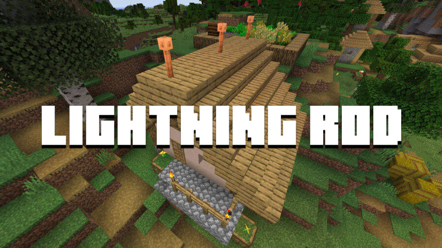 Minecraft PE 1.17 - Lightning rod