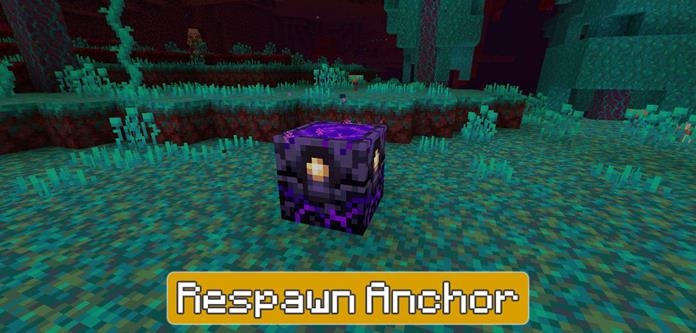 Respawn Anchor in Minecraft PE 1.16.200
