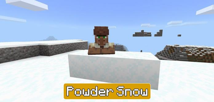 Powder Snow in Minecraft PE 1.16.200
