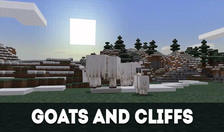 Minecraft PE 2021 - Goats And Cliffs