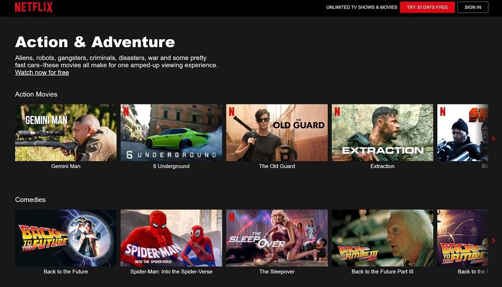 Секретные ID для Netflix