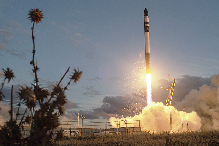 Rocket Lab Electron booster launches from New Zealand