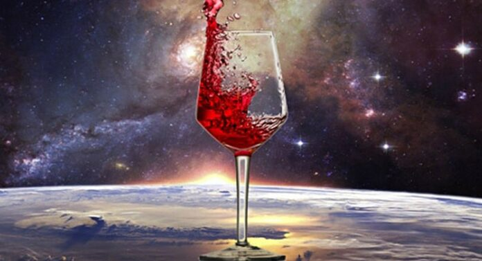 Twelve bottles of wine from space