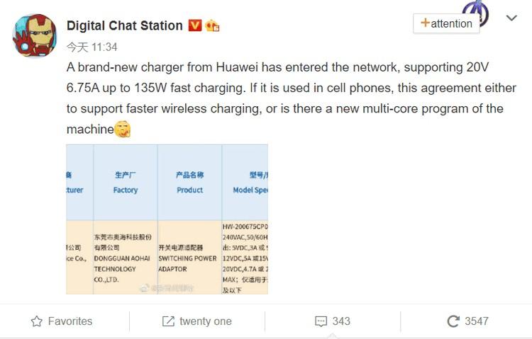 Huawei HW-200675CP0 135 Вт