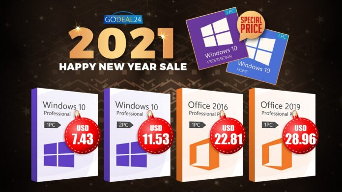 The Best 2021 New Year Deal: Windows 10 Only starts from $5.7